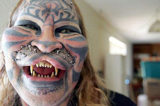 There are some seriously weird people in this world.  I guess he identifies with cats??