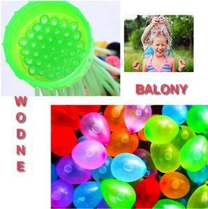 21)BALONY WODNE BOMBY + AUTOMAT ZESTAWY KOLOROWE - doskonała, orzeźwiająca  zabawa na upalne dni.