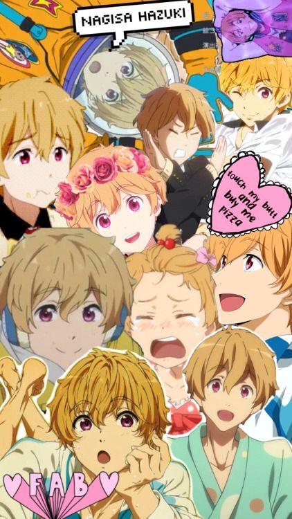 collage of nagisa hazuki from free! gosh this boy is such a bishie