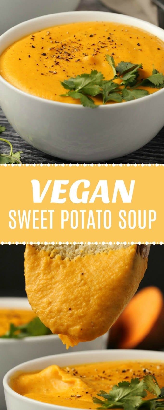 Rich and fabulously creamy vegan sweet potato soup. Hearty and filling, this sup…