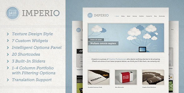 1418 Imperio | Wordpress Theme  $35