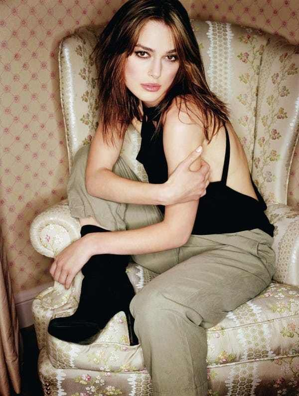 """Photos of Keira Knightley, one of the hottest girls in movies and TV. Keira Knightley is not just famous for sexy Vanity Fair magazine covers with Scarlet Johansson. Keira has also been an outstanding and drop-dead gorgeous actress in major motion pictures like """"Love Actually,"""" alon..."""