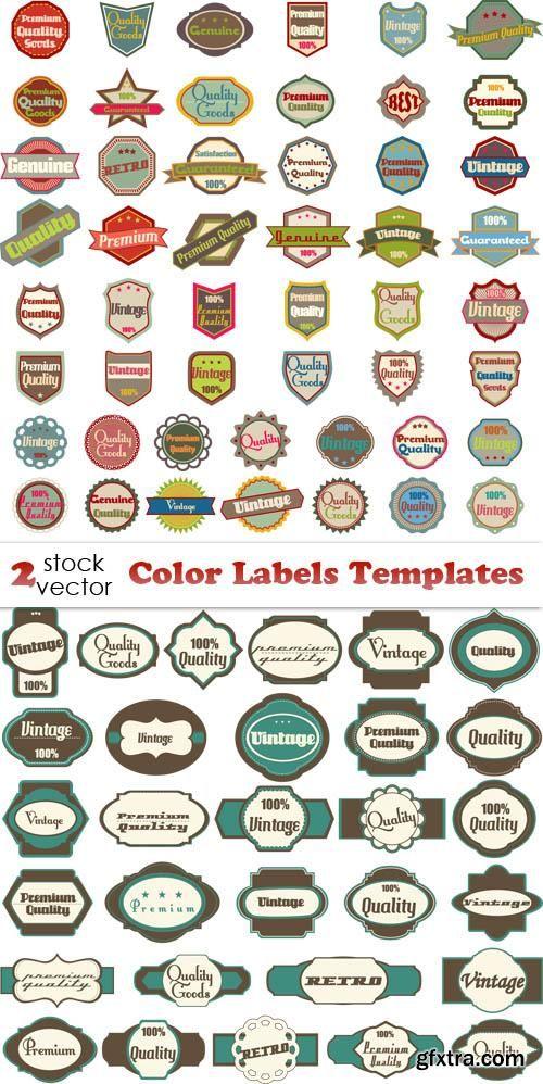 Vectors - Color Labels Templates