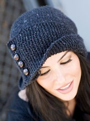 Cute and different knit hat. design in crochet and in more of