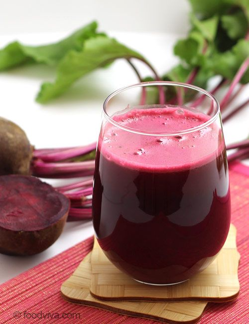 Beetroot, a wonderful vegetable, helps maintain good cardiovascular health. It has been scientifically proven that beetroot juice helps in lowering high blood pressure. It is a simple mix of red beetroot, apple and celery.