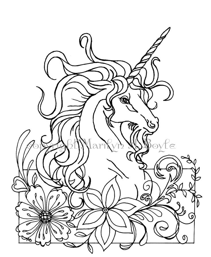 coloring pages unicorns rainbows flowers - photo#24