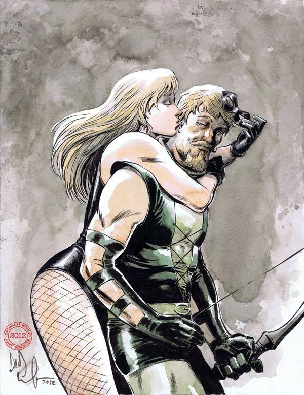 Green Arrow & Black Canary by Dave Wachter