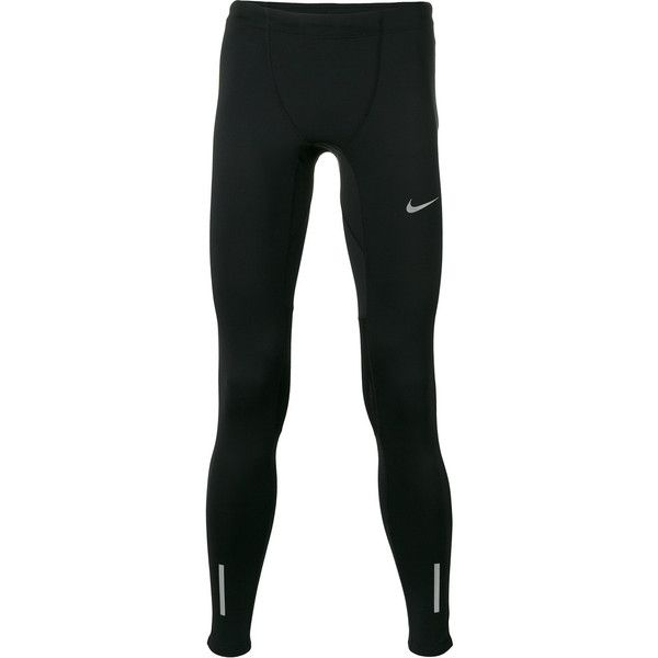 Nike Power Tech leggings ($58) ❤ liked on Polyvore featuring men's fashion, men's clothing, men's activewear, black, nike mens apparel and nike mens clothing