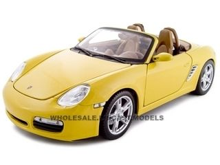 diecastmodelswholesale - Porsche Boxster S Yellow Convertible 1/18 Diecast Model Car by Maisto, $29.99 (http://www.diecastmodelswholesale.com/porsche-boxster-s-yellow-convertible-1-18-diecast-model-car-by-maisto/)
