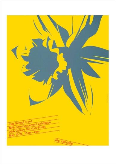 """Yale Commencement Poster, 1981"" - Inge Druckrey"