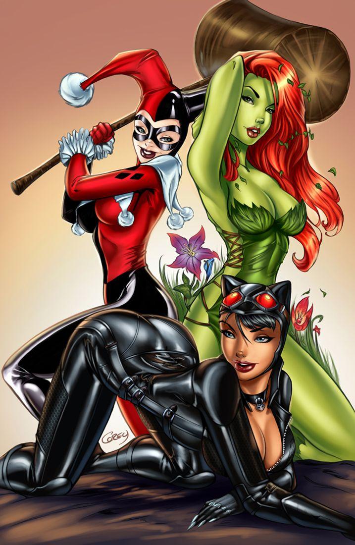 Batgirl harley catwoman poison quinn ivy