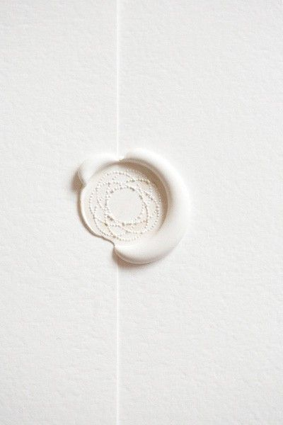 Just love the simplicity of this ecru wax seal.
