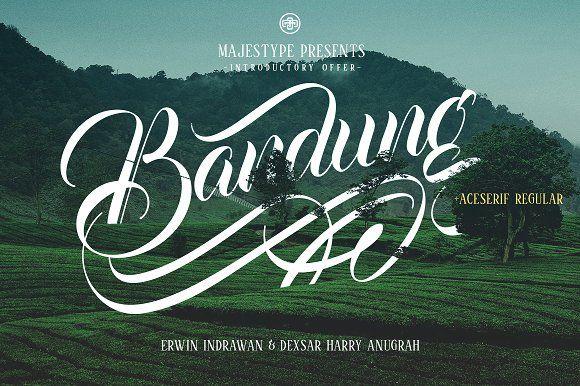 Bandung + Aceserif by dexsarharryfonts on @creativemarket
