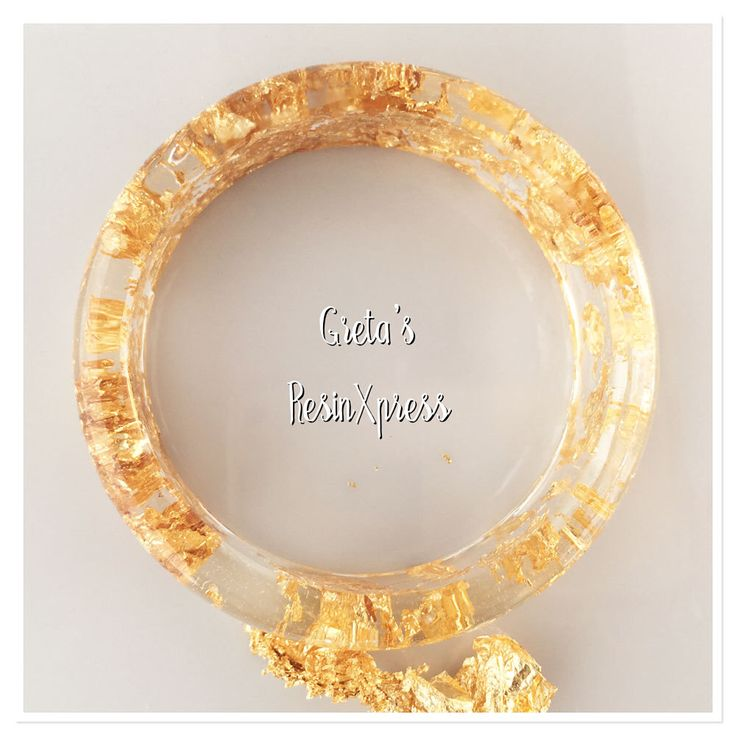Clear Resin Bangle with GoldLeaf, Statement Jewellery, Made in Brisbane, ResinXpress by ResinXpress on Etsy https://www.etsy.com/au/listing/511864469/clear-resin-bangle-with-goldleaf