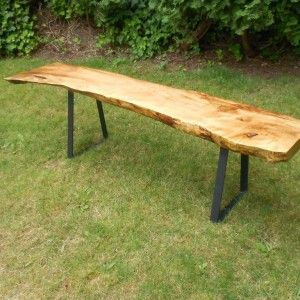Welcome to another collaboration with UJ. maple bench with flat bar bench legs... buy the legs, use his wood!!