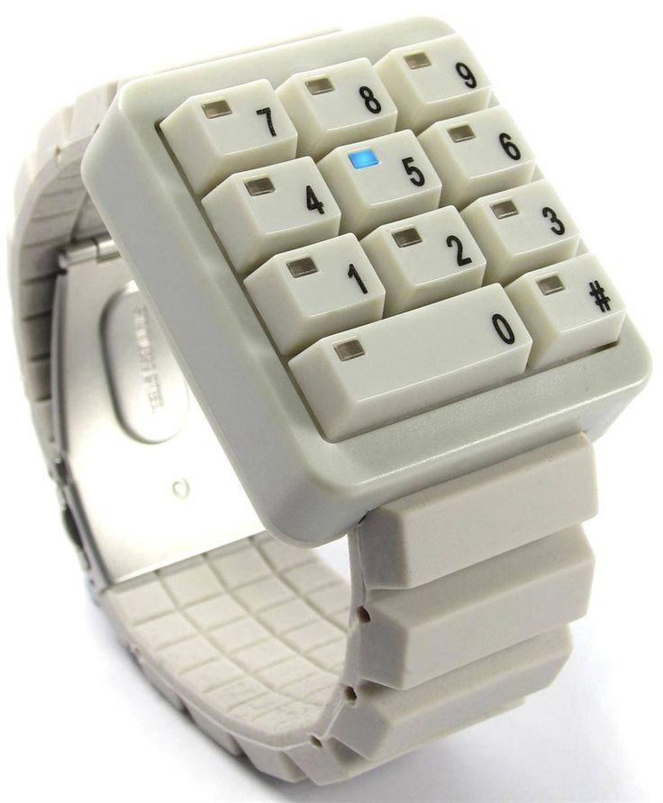 Keypad watch: Ivory Keypad, Keypad Watches, Click Keypad, Design Job, Click Ivory, Hidden Time, Graphics Design, Keypad Hidden, Cool Stuff