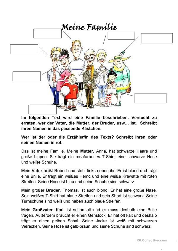 Großzügig Spanisch Familienmitglieder Arbeitsblatt Galerie ...