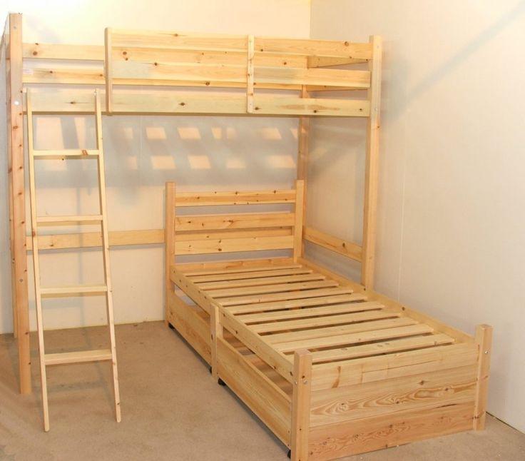 l-shaped kids bunk & loft beds and other kids bedroom furniture & decor. Double loft beds, L shaped beds and Bed parts.#LoftBed #KidsRoom #Furniture #Netnoot