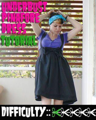 Underbust Pinafore Dress