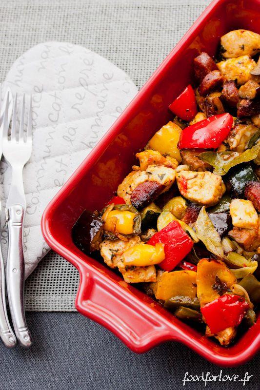 Photo Légumes Confits au Poulet, Chorizo et Paprika Fumé