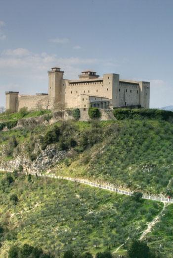 Spoleto - Rocca Albornoziana Perugia #Umbria