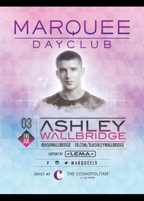 Ashley Wallbridge at Marquee Dayclub