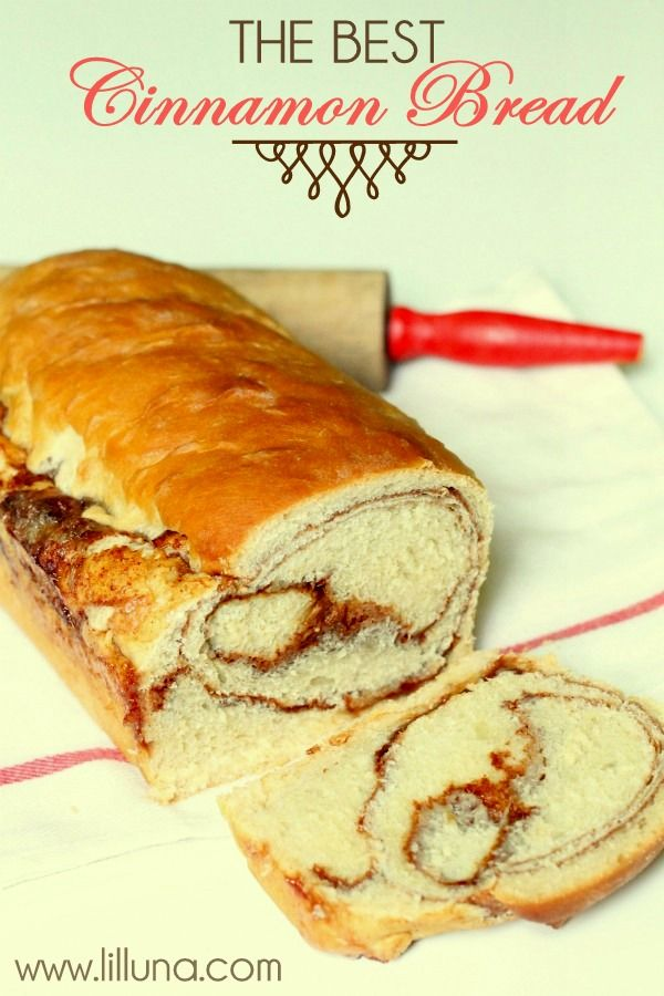 The BEST Cinnamon Bread recipe ever!! { lilluna.com }