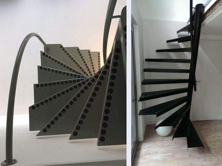 un escalier gain de place qui tient dans un espace de 1 m id es d co 2 pinterest petit. Black Bedroom Furniture Sets. Home Design Ideas