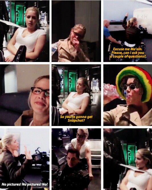 Emily <3 #Arrow - Episode #4x23 | on set