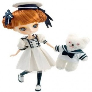 Dal Jolie is ready for a day of sailing with her cute teddy bear Jouet #dal #pullip #sailor doll