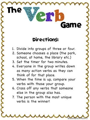 Fun game for verbs!