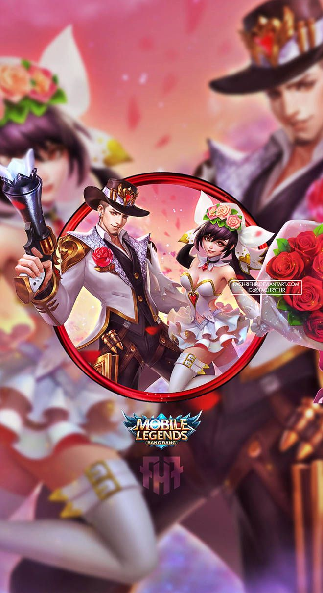 Wallpaper Phone Clint And Layla Valentine By Fachrifhr In 2020 Mobile Legend Wallpaper Alucard Mobile Legends Miya Mobile Legends