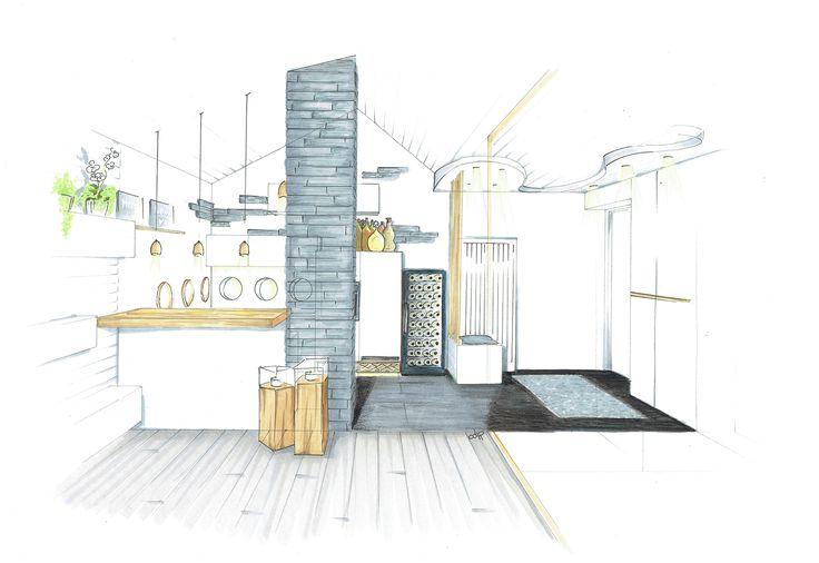 Les 25 meilleures id es de la cat gorie croquis d for Architecture et design d interieur