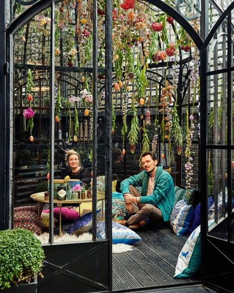 Matthew has collaborated with installation artist Rebecca Louise Law and Blakes London on a very special bohemian hideaway. Named The Hendrick's Horticultural Oasis, it opens next week, coinciding with The RHS Chelsea Flower Show. #MWblakes