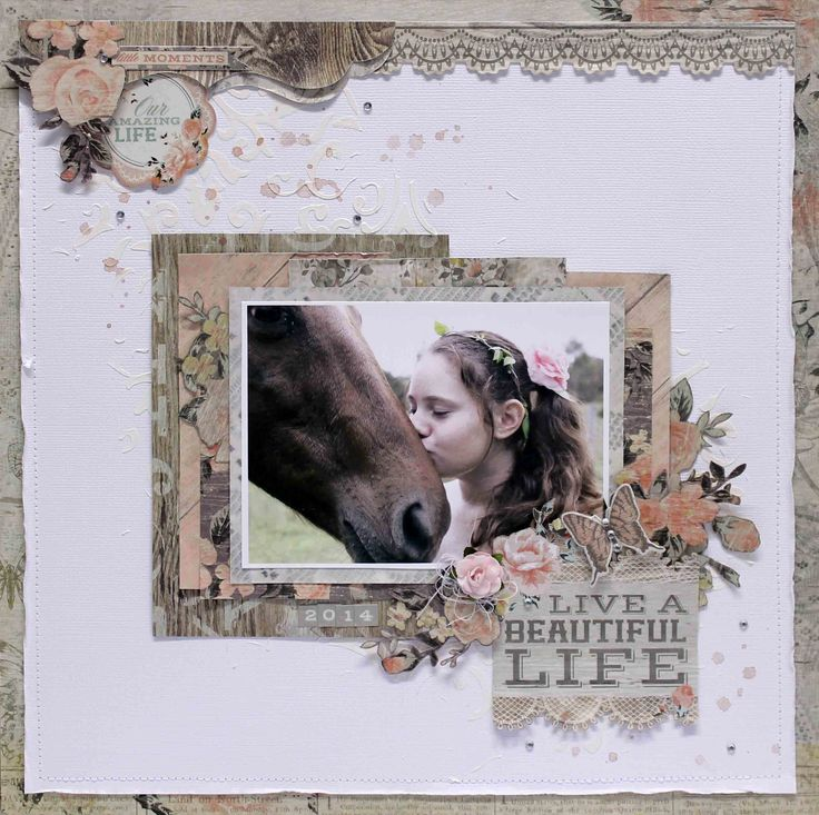 Live a Beautiful Life - Kaisercraft - Rustic Harmony Collection