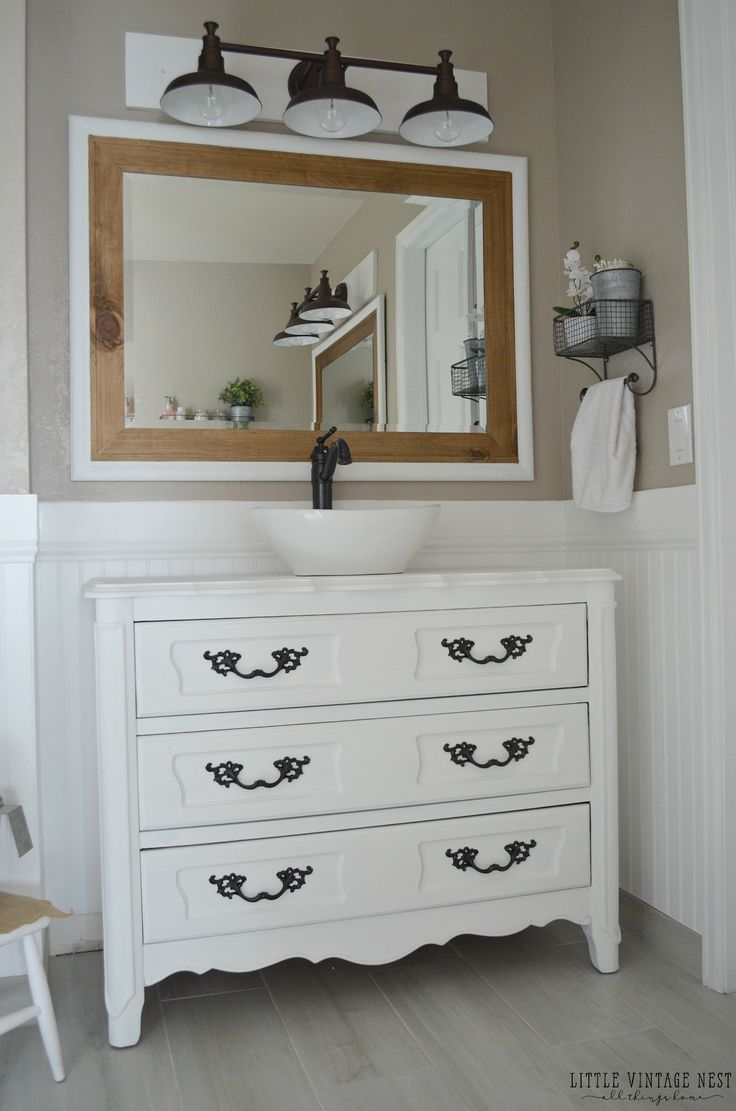Bathroom vanities minneapolis - Farmhouse Bathroom Vanity Light Fixture Double Trim On Mirror