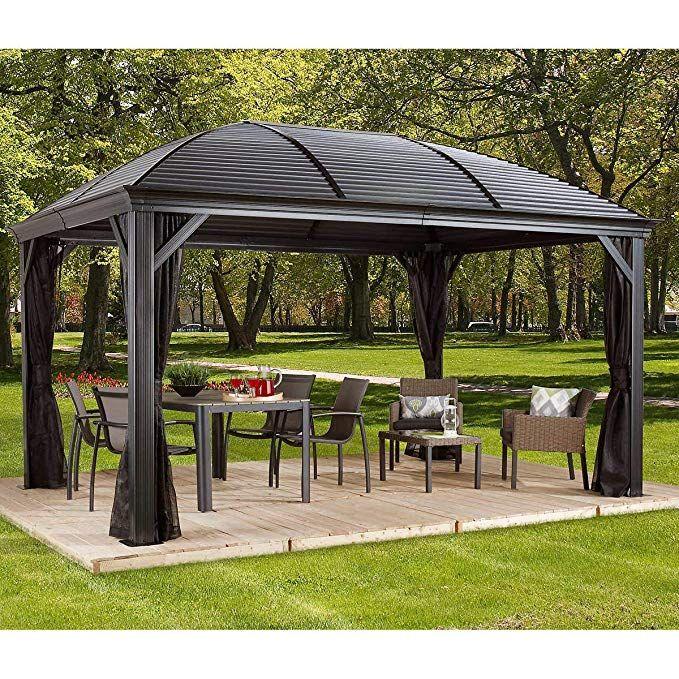 Amazon Com Sojag Moreno 10 X 14 Sun Shelter Garden Outdoor Patio Gazebo Gazebo Pergola