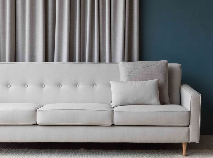 Tonic sustainable textile by Instyle - New muted pastel and saturated tones in this versatile classic texture from the LIFE Textiles collection upholstered on the Dalton sofa by Southwood and Black Thread cushions