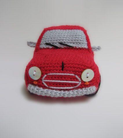 Amigurumi Patterns Cars : Classic Mini Cooper (inspired) Amigurumi Toy Car amigurumi ...
