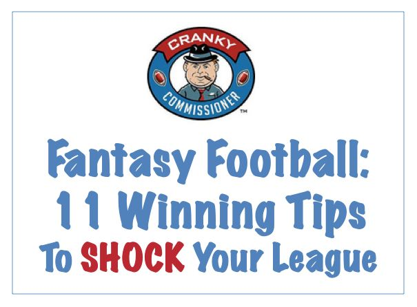 Fantasy Football: 11 Winning Tips to Shock Your League: From coming up with your Fantasy Football brand to winning the draft, this article packs a punch!