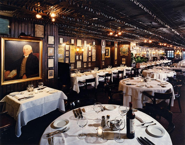 Keens Steak House NYC. This was a constant eatery place for me when I lived in NYC.  Ceiling lined with pipes. Excellent food and service. Please try - 36th and 6th <3
