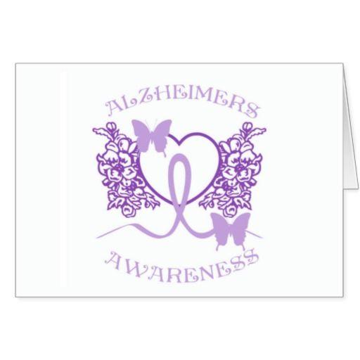 Alzheimers Awareness Purple Butterflies Card 2