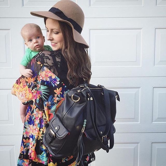 "@mrsjessicaroberts : ""I am in love with my new @lilyjadeco diaper bag! It fits everything I could need for a full day out with all the kids."" #backpack #diaperbag The Meggan"