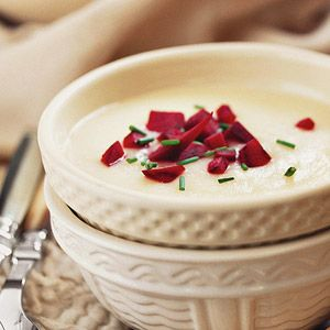 This side dish soup is loaded with vegetables, making it high in fiber and vitamins./