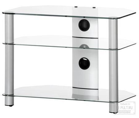 Sonorous NEO 370 C SLV  — 7425 руб. —  3-х стекольная тумба под телевизор в угол Neo 370 — надежная подставка для телевизоров весом до 50 кг. При изготовлении угловой стойки под телевизор Neo 370 используются надежные закаленные стекла с плоским полированным краем. В модели предусмотрены 3 стеклянные полки для установки аппаратуры. Толщина верхнего стекла — 8 мм, остальных — 5 мм. Стекла имеют призмообразную форму, что позволит Вам с легкостью установить тумбочку в угол помещения. Полки…