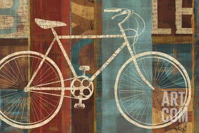 Demarrage, afbeelding van fiets Kunstdruk by Michael Mullan at Art.com