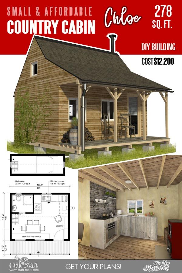 13 Best Small Cabin Plans With Cost To Build Craft Mart Cabin Plans Cabin Plans With Loft Simple Woodworking Plans