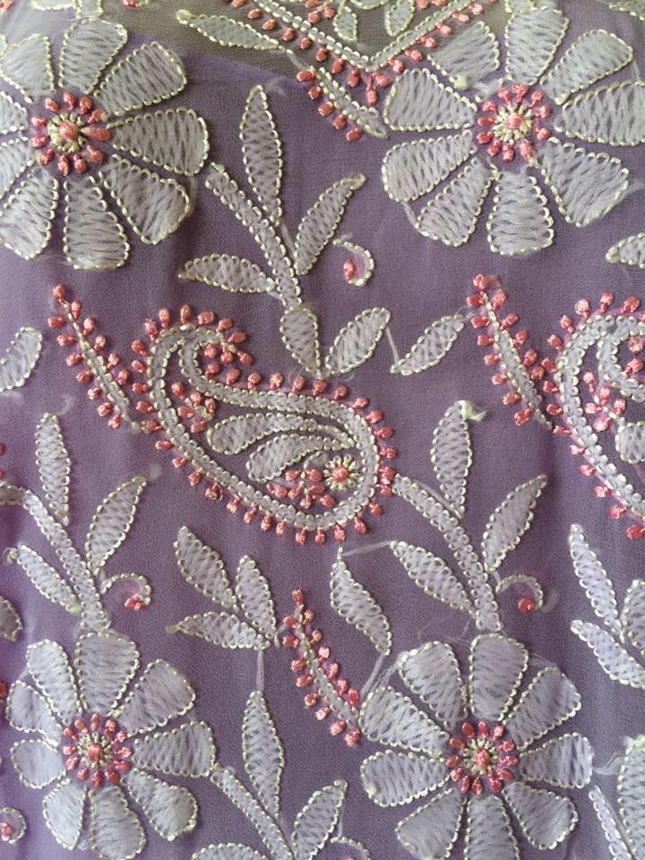 Indian Embroidered Sarees: 763 Best Indian Embroidery Images On Pinterest
