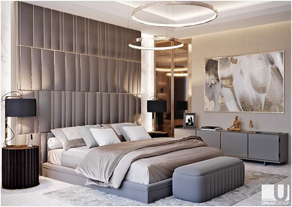Beige Bedroom On Behance Beige Bedroom Modern Luxury Bedroom