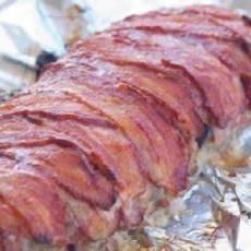 Dad's Cheesy Bacon Wrapped Meatloaf | Good Meats | Pinterest